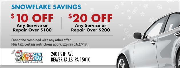Snowflake Savings: Save up to $20 on Any Service or Repair