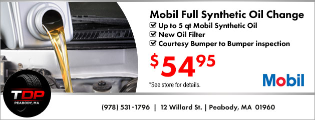Mobil Full Synthetic Oil Change