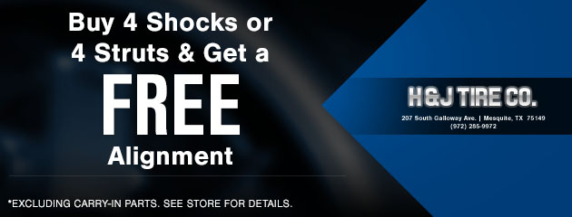Buy 4 Shocks or Struts and Free Alignment