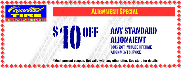 $10 Off Any Standard Alignment