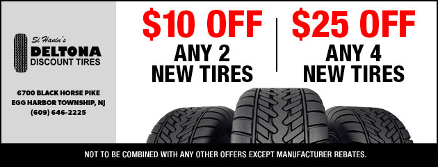 Discount Tire Hours Sunday >> Tires Auto Repair In Egg Harbor Township Nj Deltona