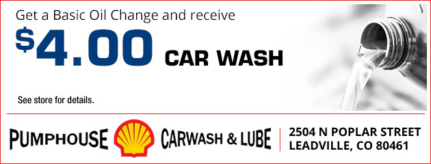 Get a basic oil change and receive a $4 car wash