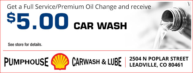 Get a full service/premium oil change and receive a $5 car wash