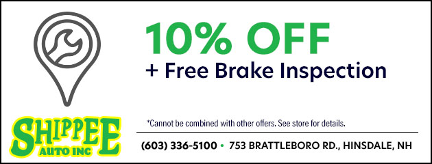 10% Off plus a Free Brake Inspection