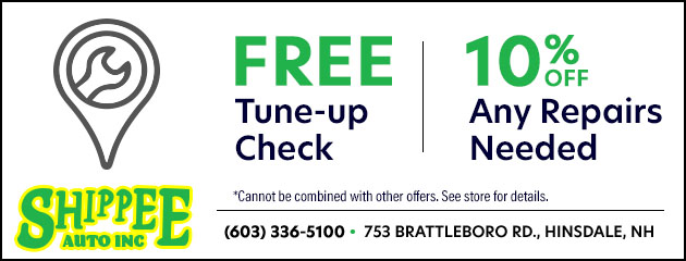 Free tune up check & 10% off any repairs needed