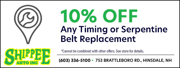 10% off any timing belt or serpentine belt replacement
