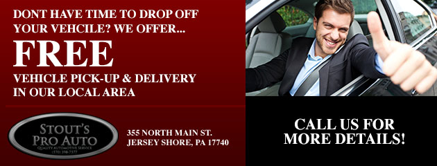We offer free vehicle pick-up and delivery