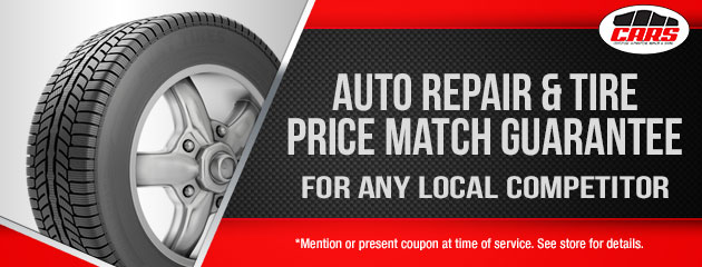 Auto Repair & Tire Price Match Guarantee for any local competitor