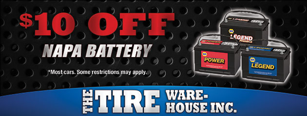 $10 Off Napa Batteries