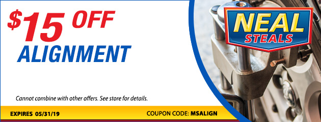 Get $15 Off an Alignment Special