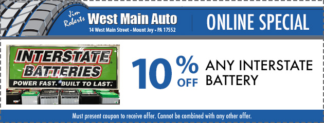10% Off Interstate Batteries