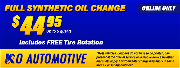 $44.95 Synthetic Oil Change