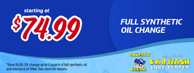 Full Synthetic Oil Change from $74.99