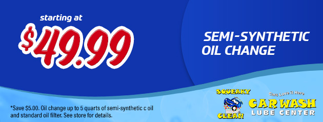 Semi-Synthetic Oil Change from $49.99