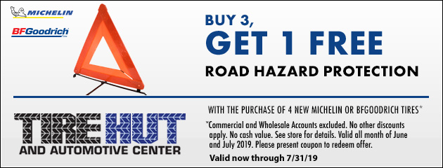 Buy 3, Get 1 FREE Road Hazard Protection