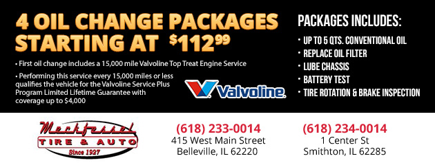 4 Oil Change Packages Starting at $112.99