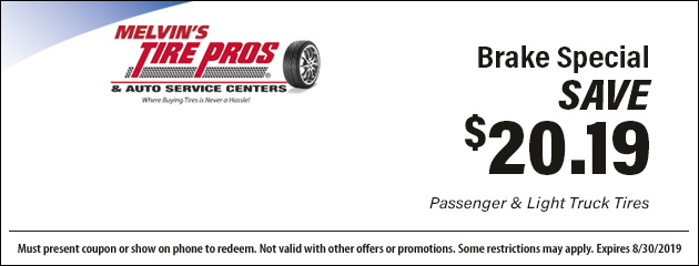 Save $20.19 with this Brake Special