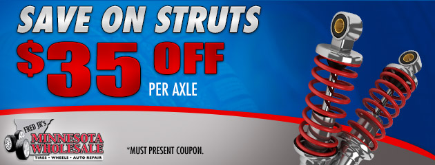 $35 Off Per Axle on Struts