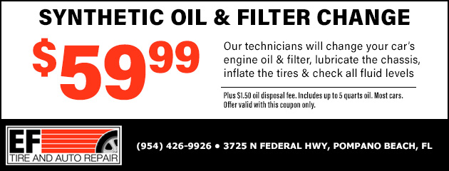 Synthetic Oil Change and Filter Special