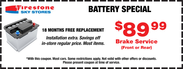 Battery Special -$89.99
