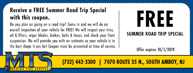New and Used Tires in South Amboy, NJ | Medina Tire Service