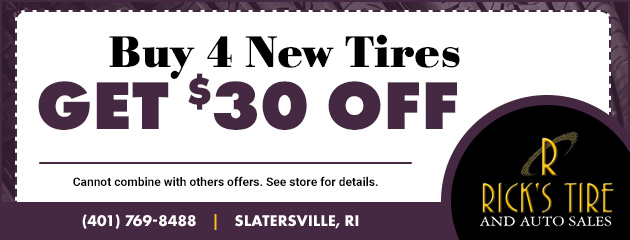 Buy 4 new tires, Get $30 Off