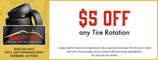 $5 Off any Tire Rotation