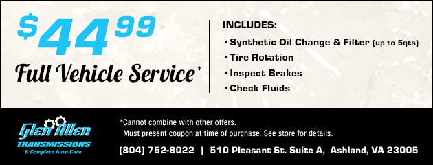 $44.99 Full Vehicle Service