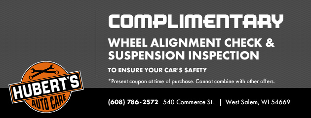 Complimentary Wheel Alignment Check and Suspension Inspection
