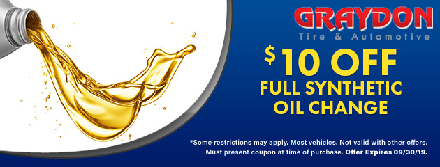 $10 Off Any Full Synthetic Oil Change Special