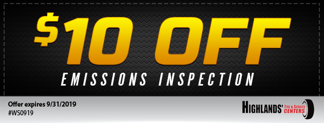 $10 Off Emissions Inspection