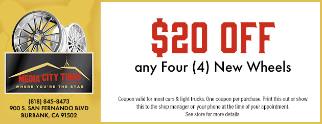 $20 Off any Four New Wheels