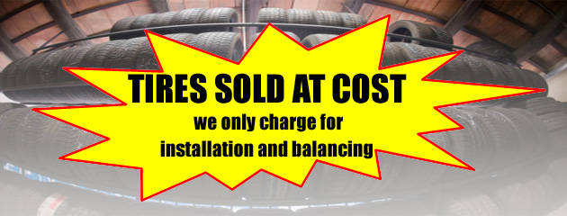 Tires Sold At Cost