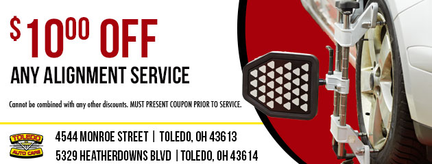 $10.00 OFF ANY ALIGNMENT SERVICE