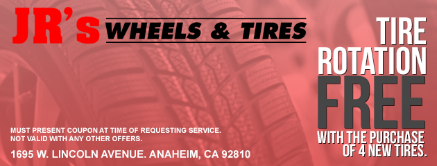 Free Tire Rotation w/ 4 New Tires