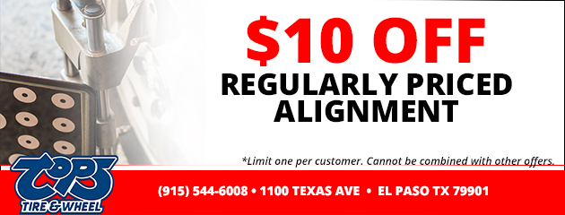 $10 Off Regularly Priced Alignment