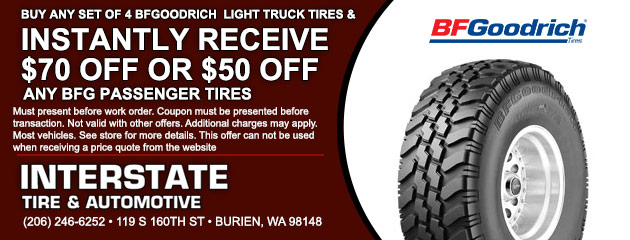 Buy 4 BFGoodrich Light Truck Tires