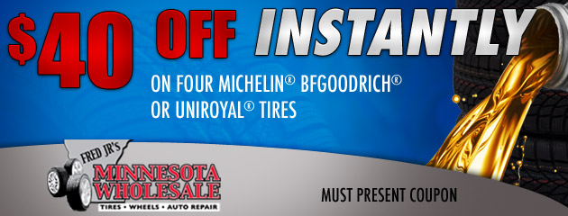 $40 Off Tires