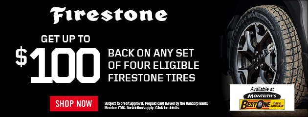 Firestone - Get Up To $100 Back