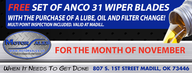 Free Set of Anco Wiper Blades