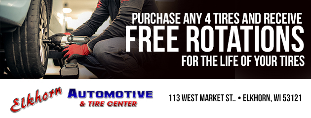 Free Tire Rotation with the purchase of 4 tires!