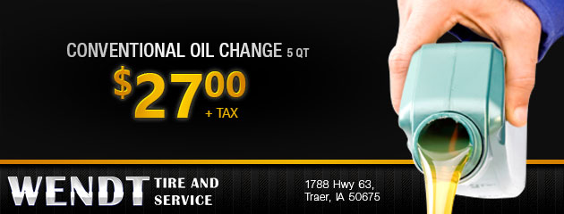 Conventional Oil Change $27