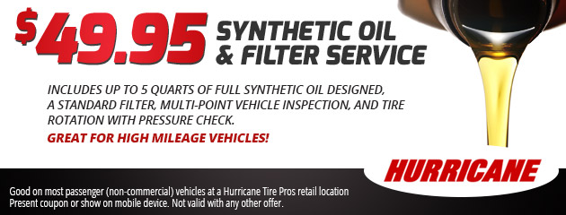 $49.94 Synthetic Oil Change