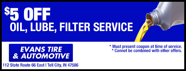 $5 off oil, lube, filter service