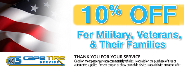 10% Off For Military, Veterans & Their Families