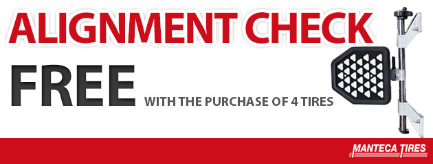 FREE Alignment Check with the purchase of 4 tires!