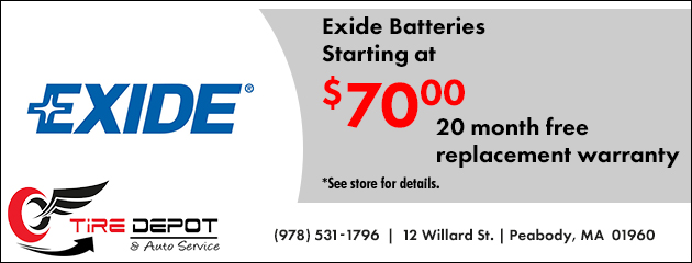 Exide Batteries Starting at $70