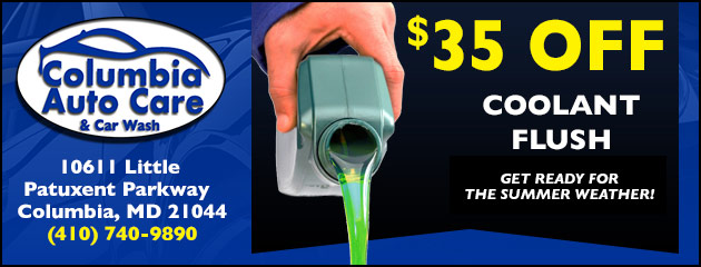 $35 Off Coolant Flush