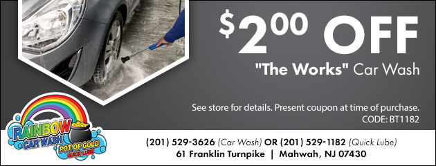 "$2.00 OFF ""The Works"" Car Wash"