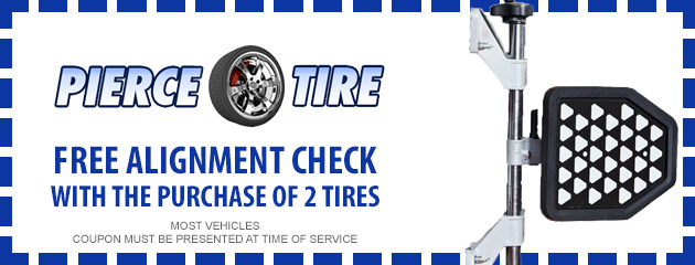 Free Alignment Check with the puchase of two tires
